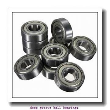 6,35 mm x 9,525 mm x 3,175 mm  ISO FR168BZZ deep groove ball bearings